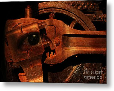 Steampunk Part Number 93063 Ghost In The Machine Metal Print by Wingsdomain Art and Photography