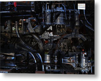 Steampunk Patent 1215 Prototype B Metal Print by Wingsdomain Art and Photography
