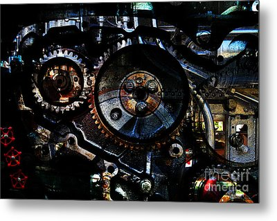 Steampunk Personal Decompression Chamber Model 39875da78803 Fully Accessorized Metal Print by Wingsdomain Art and Photography