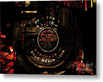 Steampunk Port Huron Steam Engine Washer Model8613 . A Luxury For The Little Lady Of The House.sepia Metal Print by Wingsdomain Art and Photography