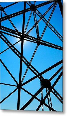 Metal Print featuring the photograph Steampunk Sky Web by Trever Miller