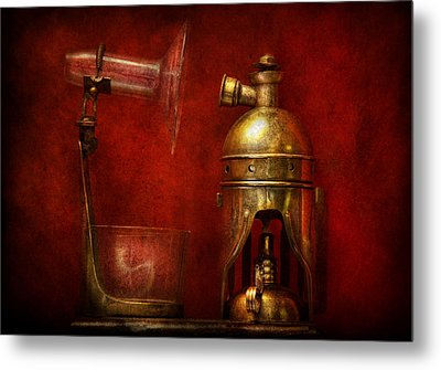 Steampunk - The Torch Metal Print by Mike Savad