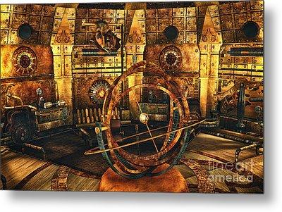 Steampunk Time Lab Metal Print by Jutta Maria Pusl