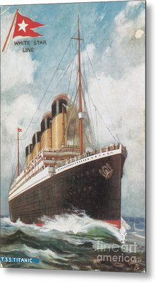 Steamship Titanic Metal Print by Photo Researchers