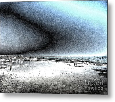 Steel Beach Metal Print