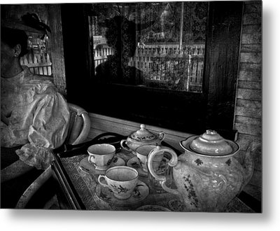 Steeped Tea Metal Print by Empty Wall