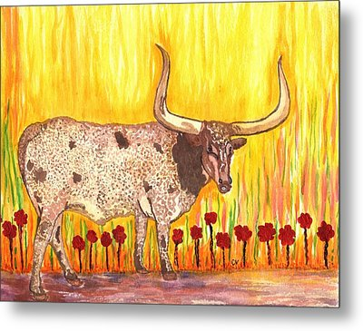 Steer Clear Metal Print by Connie Valasco