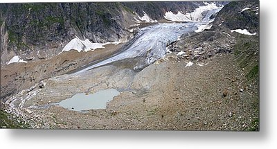 Stein Glacier, Switzerland Metal Print