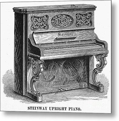 Steinway Piano, 1878 Metal Print by Granger