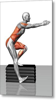 Step-down Exercises Metal Print by MedicalRF.com