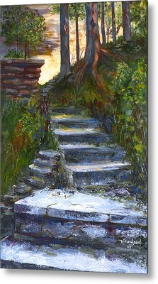 Metal Print featuring the painting Step To The Light by George Richardson