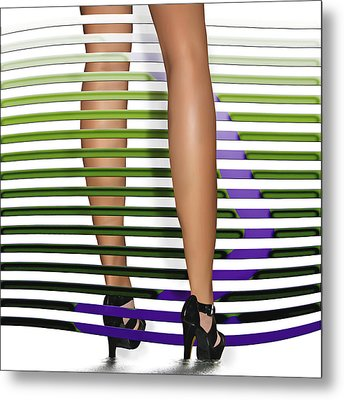 Metal Print featuring the digital art Steppin Out by Katy Breen