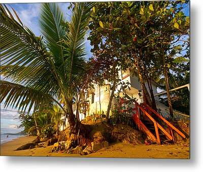 Steps To The Beach Metal Print by Tim Fitzwater
