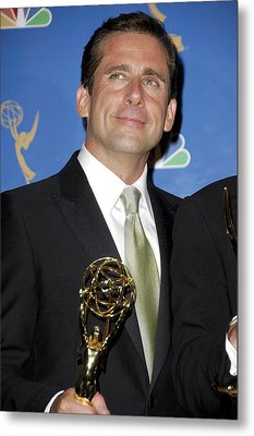 Steve Carell In The Press Room For 58th Metal Print by Everett