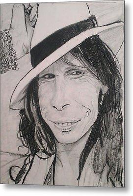 Steven Tyler Metal Print by Brittany Frye