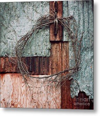 Still Decorated With A Wreath Metal Print by Priska Wettstein
