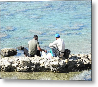 Still Fishing On The Sea Of The Galilee Metal Print