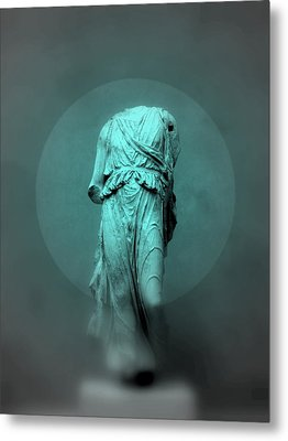 Still Life - Robed Figure Metal Print by Kathleen Grace