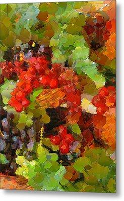 Still Life Fruits Metal Print by Yury Malkov
