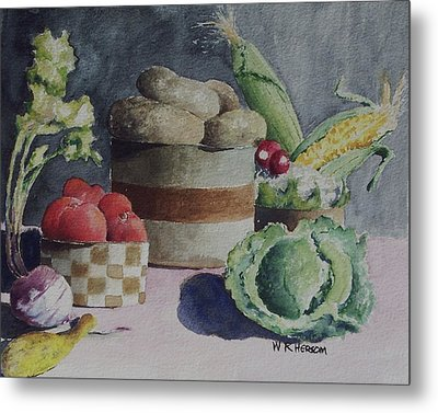 Still Life Number Four Metal Print by W R  Hersom