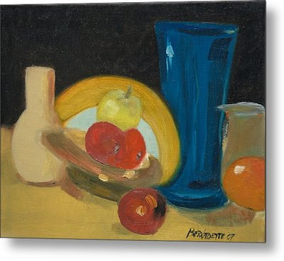 Metal Print featuring the painting Still Life Of Fruit by Bernadette Krupa