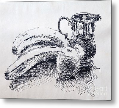 Metal Print featuring the drawing Still Life by Rod Ismay