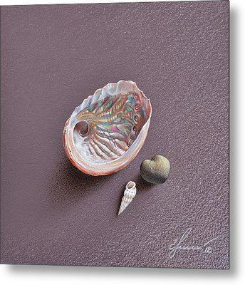 Still Life With Abalone Shell Metal Print by Elena Kolotusha