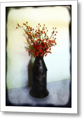 Metal Print featuring the photograph Still Life With Berries by Judi Bagwell
