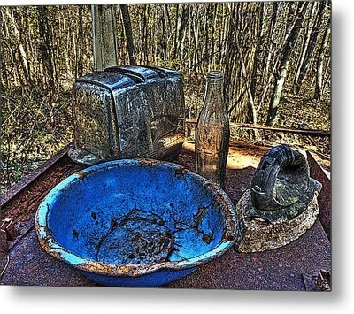 Still Life With Blue Plate Special Metal Print by William Fields