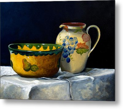 Still Life With Bowl And Pitcher Metal Print by John OBrien