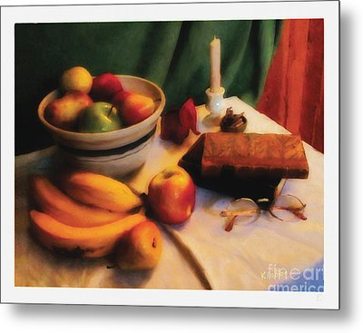 Metal Print featuring the digital art Still Life With Fruit by David Klaboe