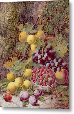 Still Life With Fruit Metal Print by Oliver Clare