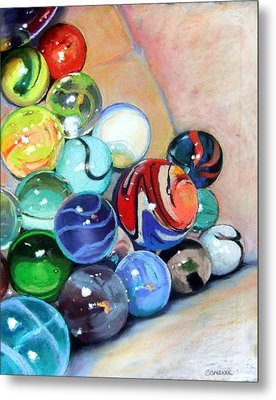 Still Life With Marbles 07 Metal Print by Sue Gardner