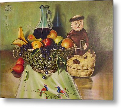 Still Life With Moms Needle Work Metal Print