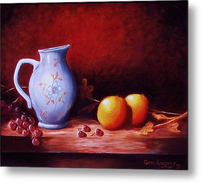 Still Life With Oranges  Metal Print by Gene Gregory