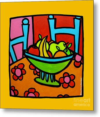 Still Life With Red And Pink Metal Print by Anne Leuck