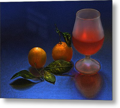 Still Life With Tangerins Metal Print