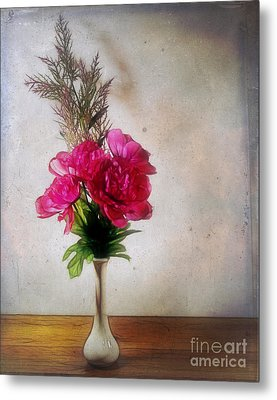 Still Life With Texture Metal Print by Judi Bagwell