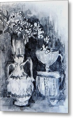 Still Life With Vases Metal Print by Jolante Hesse