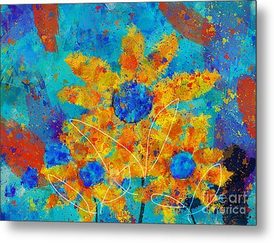 Stimuli Floral S01 Metal Print by Variance Collections