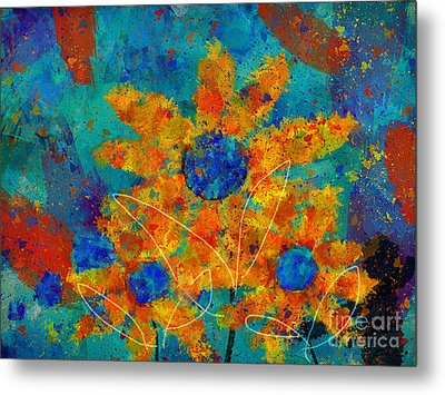 Stimuli Floral -s01t01 Metal Print by Variance Collections