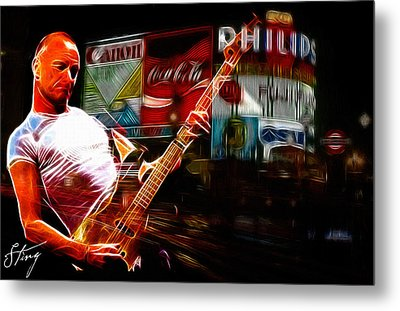 Sting In Concert Metal Print by Steve K
