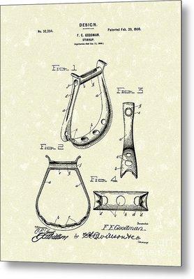 Stirrup Design 1900 Patent Art Metal Print by Prior Art Design