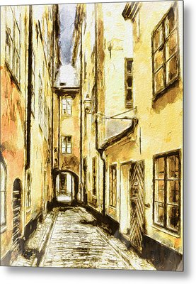 Stockholm Old City Metal Print by Yury Malkov