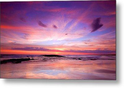 Metal Print featuring the photograph Stockton Beach Sunset by Paul Svensen