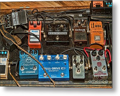 Stomp Box Metal Print