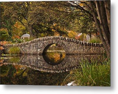 Stone Bridge Reflection Metal Print by Graeme Knox