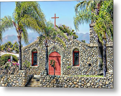 Stone Chapel Metal Print by Michelle Frizzell-Thompson