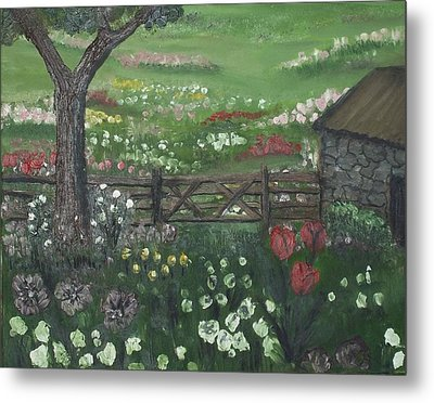 Stone Cottage Metal Print by Angela Stout