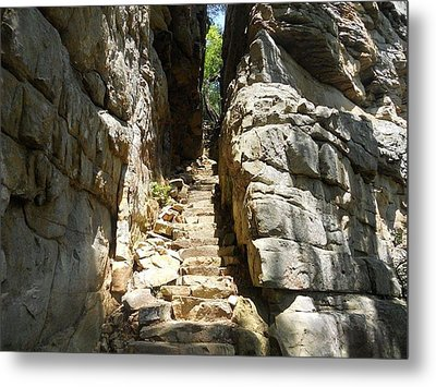Stone Door Metal Print by Kimberly Hebert